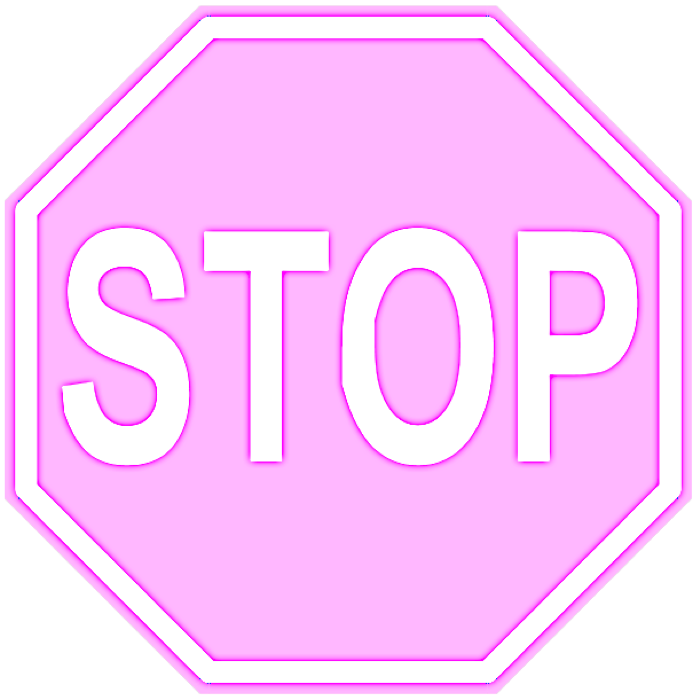 pink-stop-sign